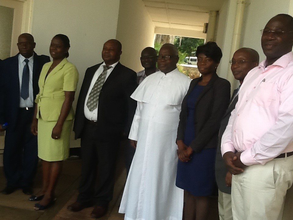 Members of the Commission for University Education, Kenya and PSI faculty members during facility inspection in JanuaryMembers of the Commission for University Education, Kenya and PSI faculty members during facility inspection in January