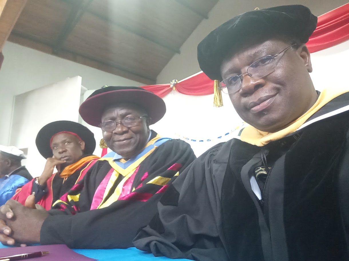 FROM L-R - PROF STEPHEN MBUGUA (VC CATHOLIC UNIVERSITY OF EASTERN AFRICA), REV DR FRANCIS VERYE (PRINCIPAL, MARIST INTERNATIONAL UNIVERSITY COLLEGE), REV DR JOYZY PIUS EGUNJOBI (AG. DIRECTOR, PSI)